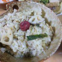 れんこんご飯で晩ご飯~(我が家のわずかなお米は?)