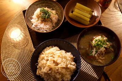 ポカポカ*簡単ツナと生姜の炊き込みごはん