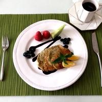 朝食にお勧め ❤︎ ナツメグの甘い香り♪♪『バナナとアボカドのパンケーキ』★スパイス大使★