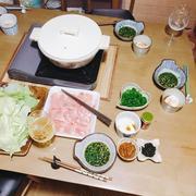 シャキシャキ!レタス巻きの豚しゃぶ鍋で週末ごはん*友達が来たよ。