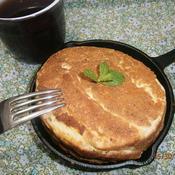 豆乳バニラカスタード入りホットケーキ