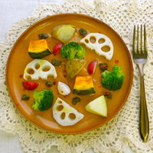 いろいろ温野菜のタプナードソース