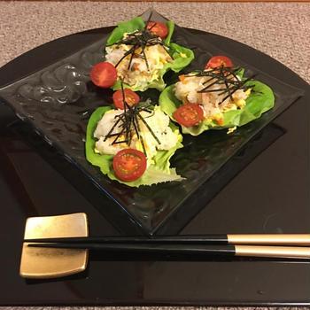 Feb.23.Sunday ୨୧ ちらし寿司のサラダ巻き