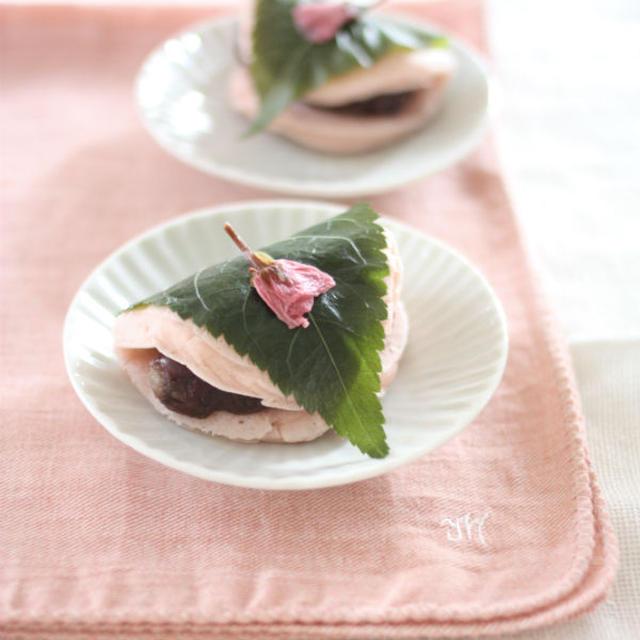 【ライスミルク×米粉】桜餅風パンケーキ