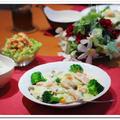 秋鮭と白菜のクリームシチュー