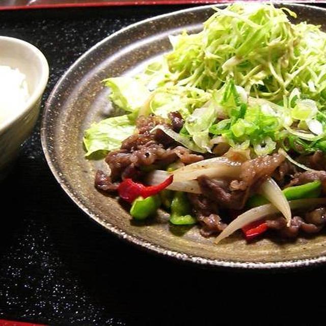 野菜たっぷり焼肉 定食風