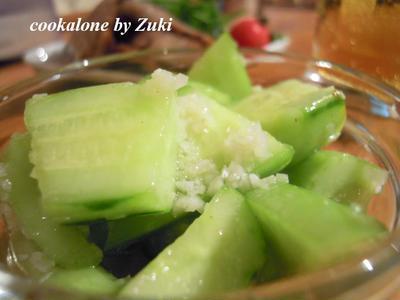 涼拌黄瓜(中華風きゅうりの簡単和え)