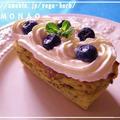 さつまいもケーキ&ブルーベリー♪【デコレーションがかわいくてオシャレなパウンドケーキレシピ】くらしのアンテナ by MOMONAOさん