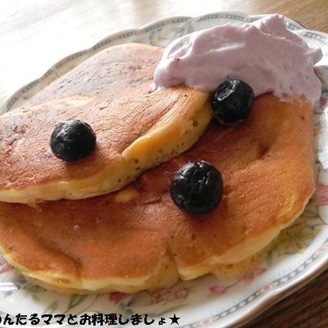 ブルーベリーのクリームチーズパンケーキ