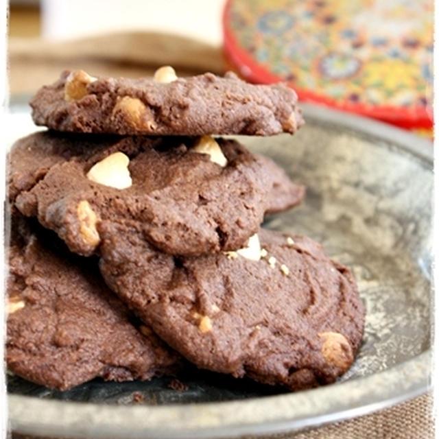 ココアとホワイトチョコのクッキー