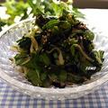 パパッと1品♪空心菜とわかめのサラダ by TOMO(柴犬プリン)さん
