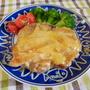 鶏モモ焼き、かき醤油仕立てつゆストレート&マヨ