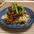 ジャージャー麺風 麺線