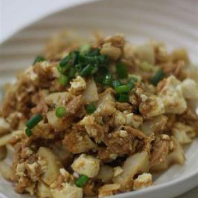 レンコン豆腐のドライカレー
