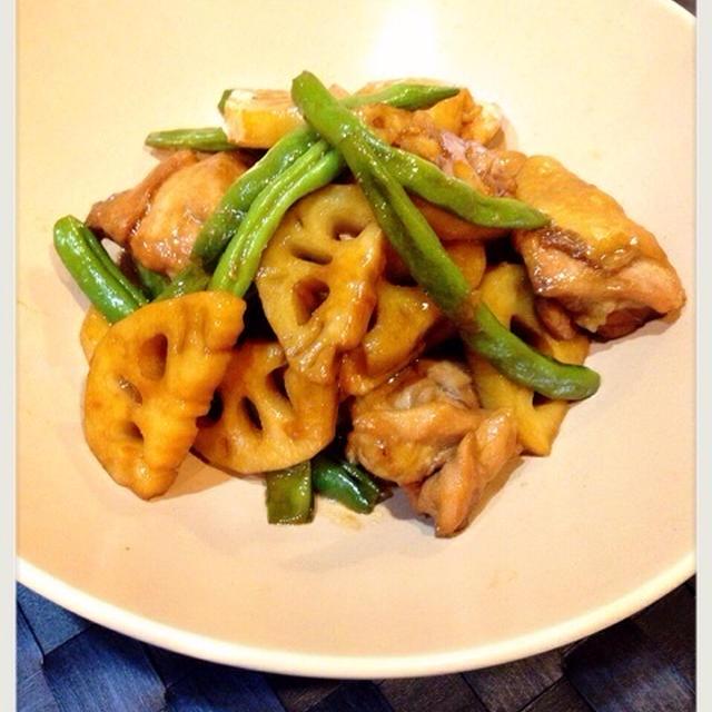 鶏とれんこんの炒め煮