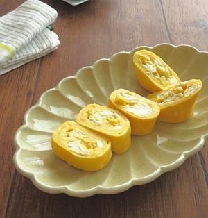 コーンとクリームチーズの卵焼き