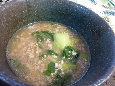 チンゲンサイと挽き肉の中華煮込み