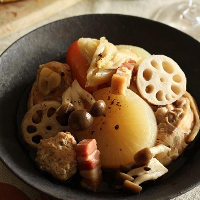 鶏と根菜の和風ポトフ
