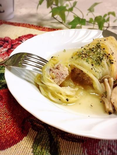 土鍋でコトコト 白菜ロール