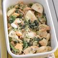 レシピブログでの連載更新しました♪ほうれん草と茹で卵のごまマヨツナサラダ