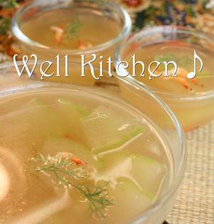 冬瓜と素エビの トロミコンソメ冷製スープ