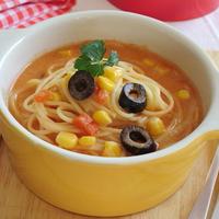 トマトミルクスープスパゲティ