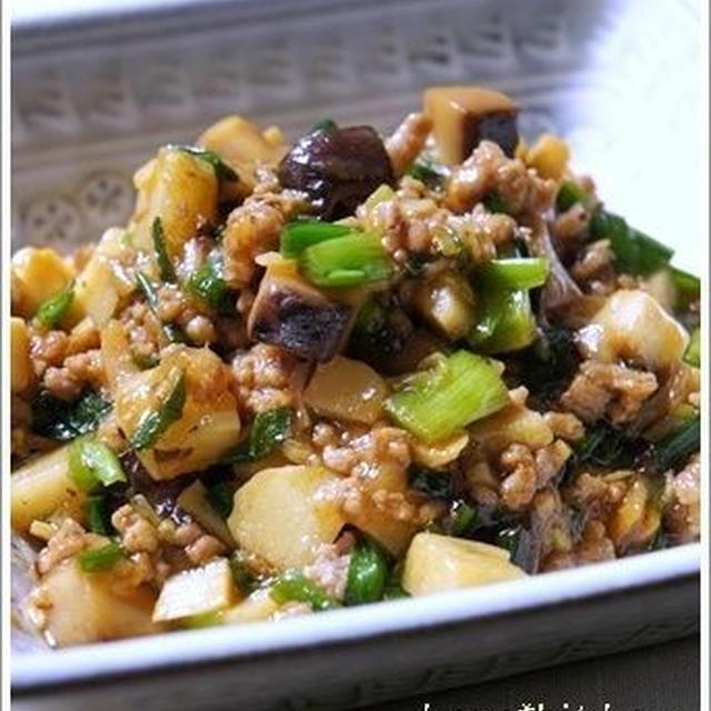 中華風:ニラと筍入り豚肉のそぼろレシピ