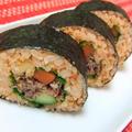 キムチご飯&焼き肉のタレで♪キムパプ風「牛肉の巻き寿司」