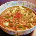 麻婆豆腐と棒棒鶏風サラダ
