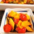 ■訂正有りm(__)m 簡単!!菜園料理【おつまみに 菜園採りツル首南瓜とミニトマトの焼き浸し♪】
