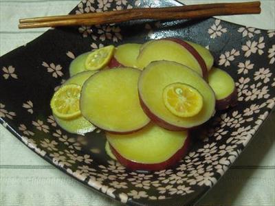 さつまいものレモン煮・柑橘が際立つ美味しさに変える!