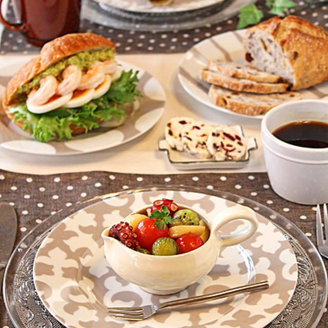 コストコ3種のパンパーティ~☆タコと長芋の柚子胡椒マリネ