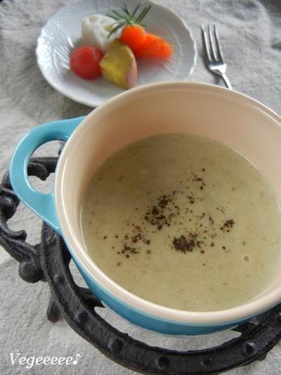 オリーブのスープフォンデュ
