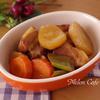 根野菜と豚肉ブロックでオレンジ煮豚