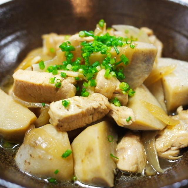 里芋と鶏肉の炒め煮