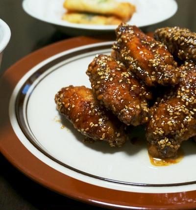 いつぞやの夕ごはん☆鶏手羽から揚げの甘辛ダレ【ざっくりレシピ付き】