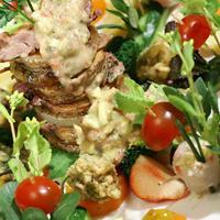 頑張れ日本サラダ!!【鴨と野菜のミルフィーユ3D仕立て。】