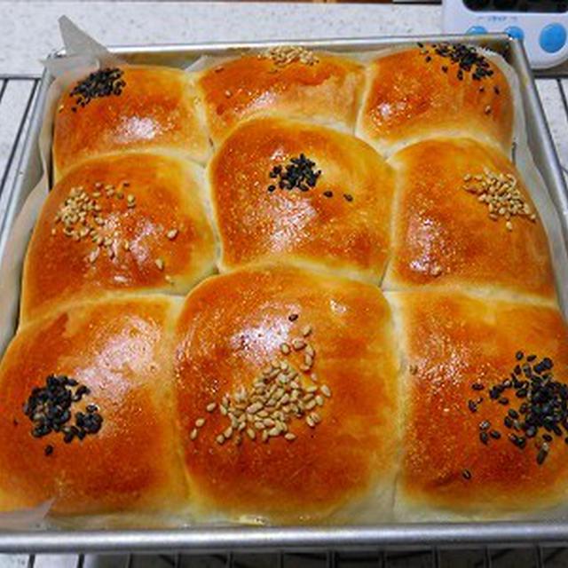 9分割あんぱんのちぎりパン~byりんご酵母