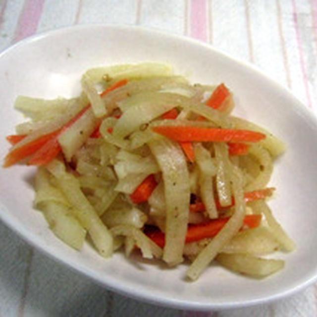 大根の炒めサラダ