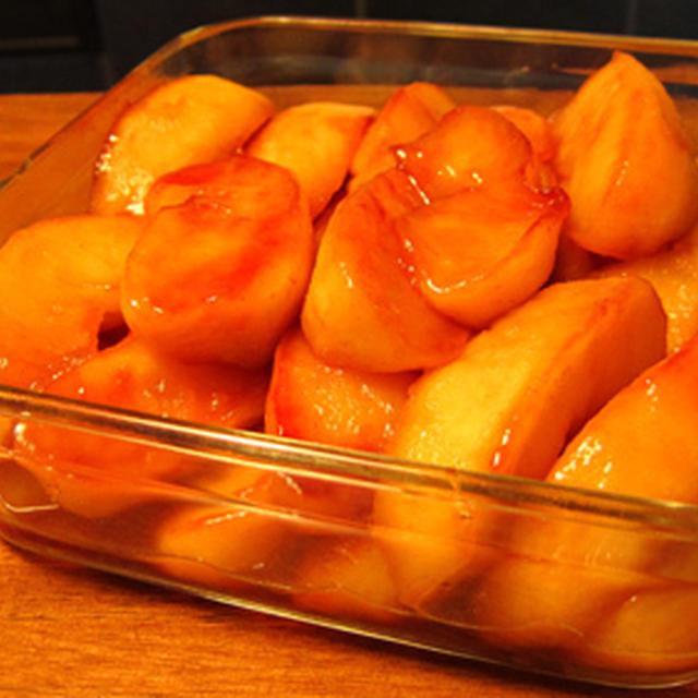 キャラメルバターソテーのりんご