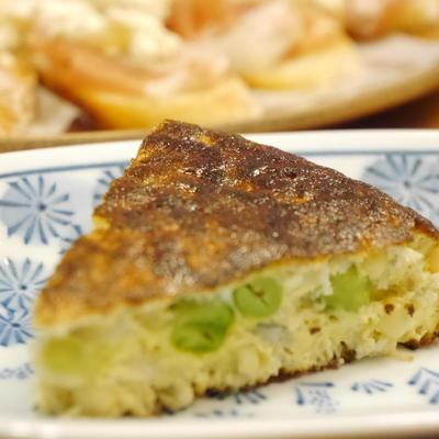 【うちレシピ】とうもろこしと枝豆のスペインオムレツ風