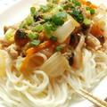 たっぷり野菜のあんかけ素麺☆