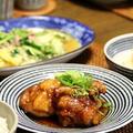 黒酢酢鶏 と 白菜とひき肉の中華炒め。