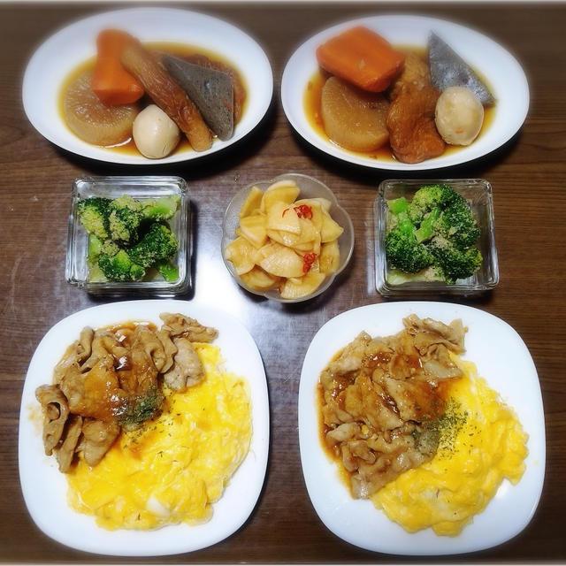 【家ごはん/献立】 ガッツリ飯♡ [レシピ色々] * ファミマスイーツ と チャイ♪
