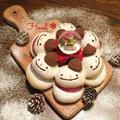 お菓子なスノーマンちぎりパン