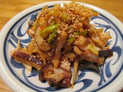 【旨魚料理】タコの豆板醤和え