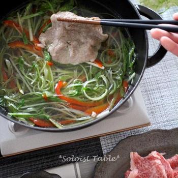 香味野菜たっぷりの牛しゃぶ♪「上州和牛がスゴかった!」第2弾