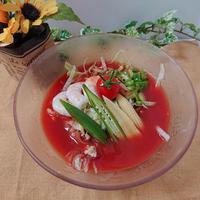 レタスヌードル冷静とまとスープ*食べるスープ*【ぐんまクッキングアンバサダー】