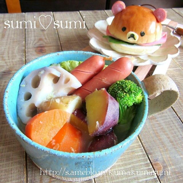 ごろごろ野菜の♥生姜のポトフ♥リラックマも漢汁祭