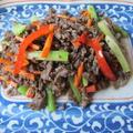 牛肉とセロリの炒め物  8・28・2012